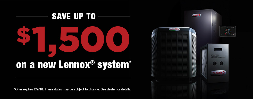 lennox promotion affordable heating and cooling iowa